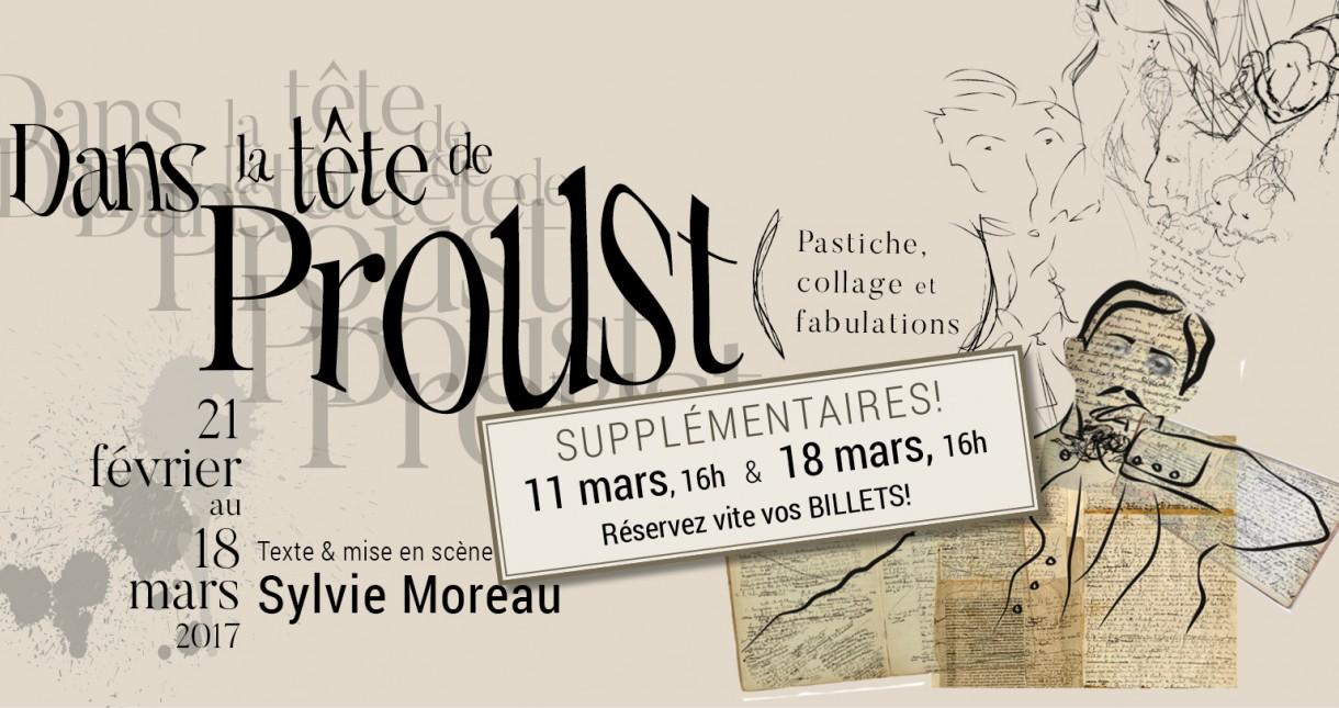 Dans la tête de Proust (pastiche, collage et fabulations), OMNIBUS 2017 | Texte et mise en scène par Sylvie Moreau