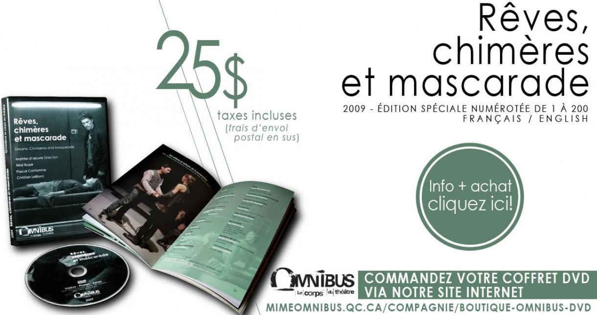 DVD Rêves, chimère et mascarade - OMNIBUS | 2009